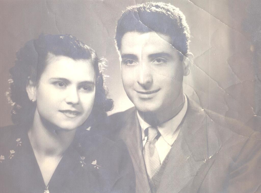 Il Maresciallo Arruzzo con la moglie Domenica Policriti