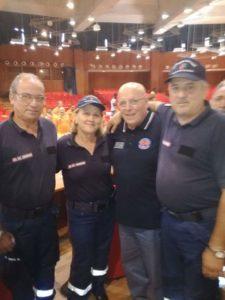 I volontari con il Presidente della Regione Calabria Mario Oliverio