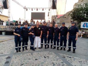 Il gruppo di volontari Anc impegnati nel servizio di vigilanza